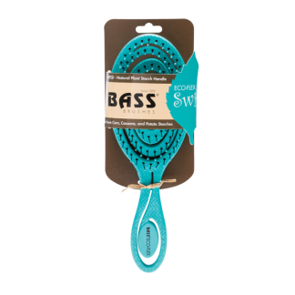 Bass Brush Detangler Teal made from Corn, Cassava and Potato Starches