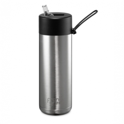 Frank Green reusable bottle Stainless Steel and black